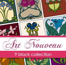 Boutique Block Collection - Art Nouveau Blocks by Christiane Wipplinger