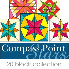 Boutique Block Collection - Compass Point Stars by Judy Martin